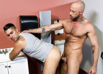 Hairy stud Jessie Colter fucks Latino hottie Adrian Suarez at Pride Studios