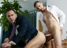 "Logan Moore and JP Dubois flip-fuck in ""Logan's Butler"" from Men At Play"