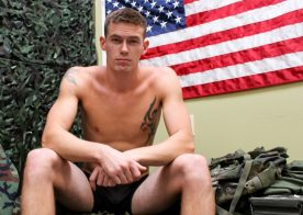 Handsome newcomer Tyler Layton works his big hard cock for Active Duty