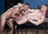 Zario Travezz and Brian Bonds share their big cocks with each other at Raging Stallion