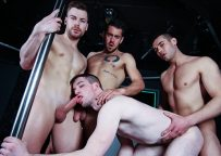 Igor Romani, Dante Colle & Jack Kross gangbang Thyle Knoxx and double-fuck his ass