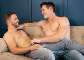 Jax pounds Jackson's eager hole in a super hot and cum-filled Sean Cody video