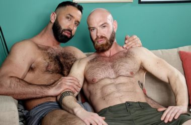 """Bearded studs Lex Anders & Peter Coxx fuck in """"After Pool"""" from Kristen Bjorn"""