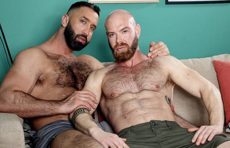 "Bearded studs Lex Anders & Peter Coxx fuck in ""After Pool"" from Kristen Bjorn"