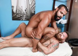 Pride Studios: Riley Mitchel fucks hairy massage therapist Tony Orion
