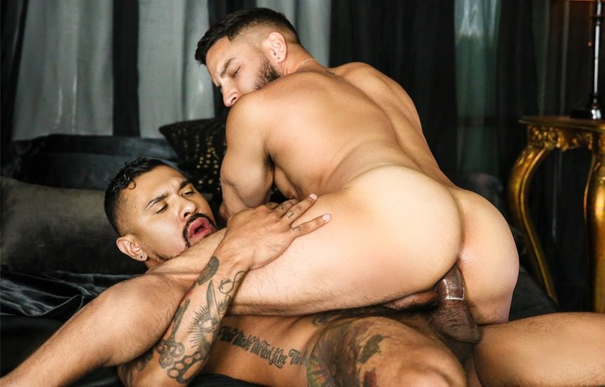 Brock Banks and Boomer Banks slam each other's holes at Men.com