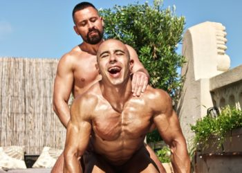 Cristian Sam drills Vicenzo's ass and feeds him his load in first bareback scene