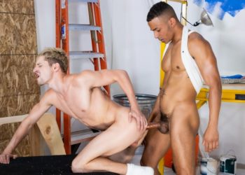 "Zario Travezz and Taylor Reign fuck in ""The Foreman's Son"" part five from Hot House"