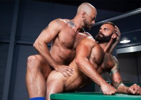 "Drake Masters bottoms for Jessie Colter in ""Outta The Park!"" part 2 from Raging Stallion"