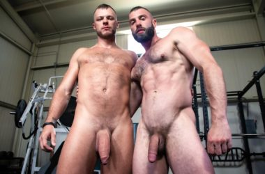 Donnie Argento & Wade Wolfgar share their thick cocks with each other at Raging Stallion