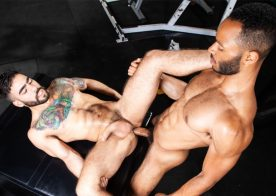 "Rooney Marx raw-fucks Papi Suave in ""Outta The Park!"" part 5 from Raging Stallion"