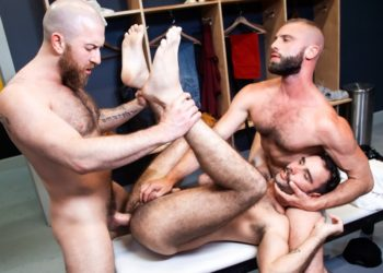 "Nigel March fucks Anthoni Hardie and Donnie Argento in the final scene from ""Outta The Park!"""