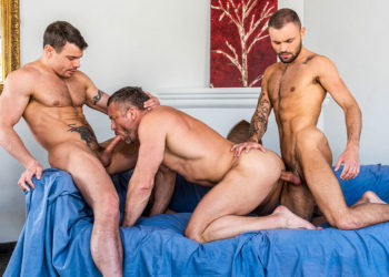 Lucas Entertainment: Tomas Brand, Jesse Santana & Jeffrey Lloyd fuck each other raw