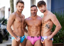 Max Adonis and Manuel Skye double-penetrate Drew Dixon at Lucas Entertainment