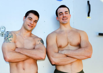 Active Duty: Princeton Price bottoms for Alex James and takes his raw dick