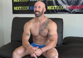 Next Door Studios: Max King rubs out a load during his casting audition