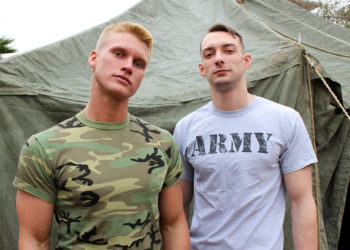 Active Duty: Johnny B services Blake Effortley and takes his raw cock