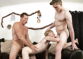 Family Dick: Jay Tee and Pierce Paris fuck Caleb Anthony (again)