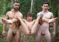 Bromo: Horny twink boy Matthew gets fucked by Vito and James Huck