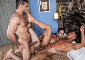"Klim Gromov bottoms for Rico Marlon and Michael Lucas in ""Raw Anal Sluts"" part 3"
