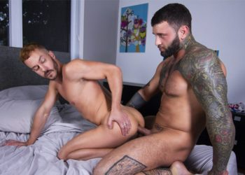Masqulin: Newcomer Starlen Gold gets his bare hole fucked by Markus Kage