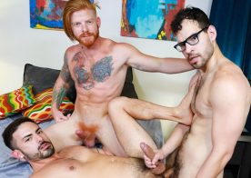"Pride Studios: Angel Ventura, Cesar Rossi & Bennett Anthony fuck in ""Surprise Third"""