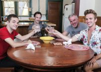 Family Dick: Dale Savage, Greg McKeon, Marcus Rivers & Bar Addison in a raw foursome