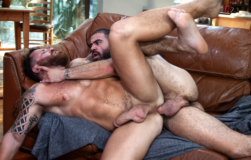 "Raging Stallion: Riley Mitchel bottoms for Sheriff Ricky Larkin in ""Blood Moon: Timberwolves 2"" (part 5)"