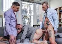 Lucas Entertainment: Alexander Volkov & Dylan James double-penetrate Andrey Vic