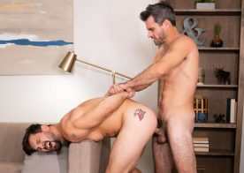 Sean Cody: Sexy silver fox Daniel fills Brysen's ass up with his raw cock