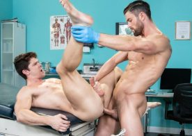 "Hot House: Ryan Rose pounds Devin Franco's bare ass in ""Dirty Doctor"" part one"