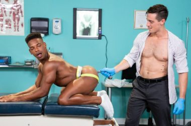 """Hot House: Steven Lee plows Adrian Hart's bare hole in """"Dirty Doctor"""" part 4"""