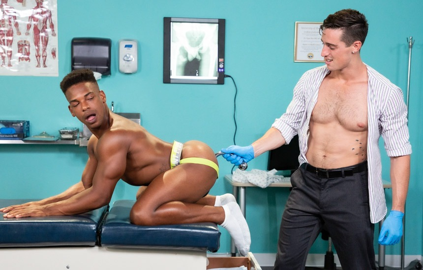 "Hot House: Steven Lee plows Adrian Hart's bare hole in ""Dirty Doctor"" part 4"