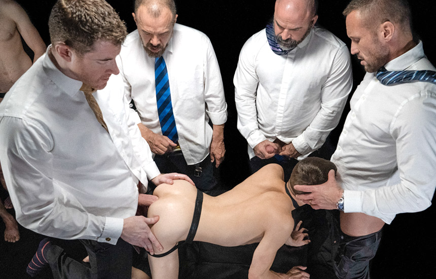 Group Auction Orgy! Bromo and Carnal Media join forces and release new Boy For Sale video