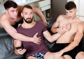 "Next Door Studios: Michael Jackman, Michael Boston & Johnny B fuck in ""Mixed Up Michaels"""