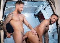 "Bromo: Nick North fucks Donato Reyes' bare hole in ""The Creeper Van"""