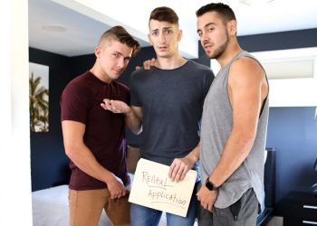 "Next Door Studios: Dante Colle, Jake Porter & Michael Jackman fuck in ""The Roommate Tour"""
