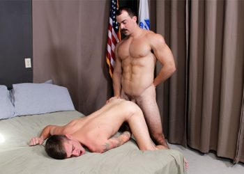 Active Duty: Muscle top Alex James plows Ryan Jordan's bare ass