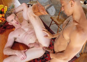 "Falcon Studios: Nick Fitt takes Zario Travezz's big raw cock in ""Bareback Ranch"" part 3"