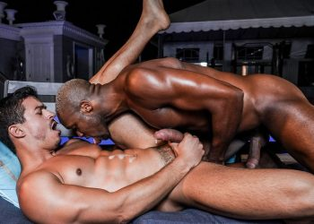 "Lucas Entertainment: Andre Donovan tops Jonathan Miranda in ""Barebacking In Public"""