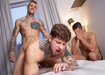 Bromo: Andrew Green gets fucked by Bo Sinn and makes his boyfriend Rocky Vallarta watch