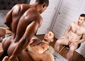 "MEN: Thyle Knoxx watches Markus Kage getting fucked by DeAngelo Jackson in ""Cuckboys"" (sc 1)"