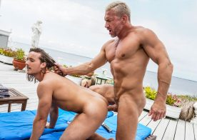 "Lucas Entertainment: Dan Saxon & Tomas Brand flip-fuck in ""Daddy's Dirty Secret"" (scene 3)"