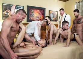 "Men At Play and Boy For Sale release bareback orgy ""European Cabal"""