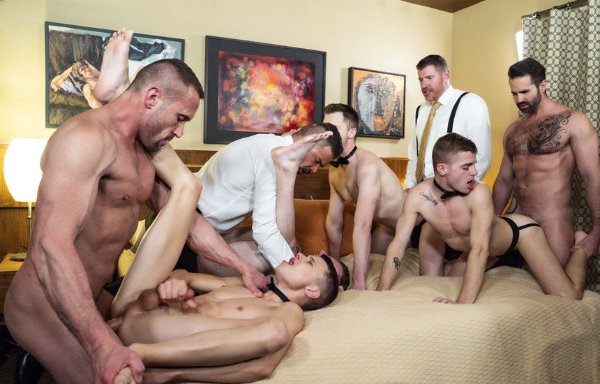 """Men At Play and Boy For Sale release bareback orgy """"European Cabal"""""""