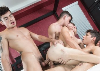 "Helix Studios: Hayden Lee, Ashton Summers, Aiden Garcia & Andy Taylor fuck in ""Four"""