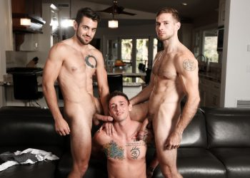 "Next Door Studios: Lance Ford, Dante Colle and David Skylar fuck in ""Gym Slut"""