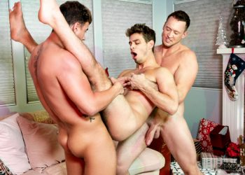 "MEN: Pierce Paris and JJ Knight tag-team Michael DelRay in ""Jingle Balls Cock"""
