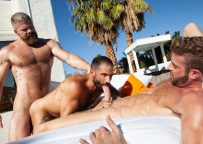 "Link Parker, Cain Marko and Edji Da Silva fuck in ""Loaded: Give It To Me Raw"" (scene 6)"