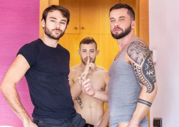 "MEN: Ricky Blue, Max Adonis and Tyler Berg fuck in ""Refuge"" (scene 3)"